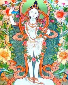 The Story of the Lion-Faced Dakini or 'Sengdongma' ⋆ The Yogini Project Thangka Painting, Fifth Element, Buddhist Art, Human Condition, Sacred Art, Tantra, Deities, Karma, Buddha