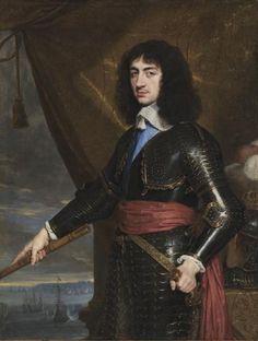 """""""portrait de roi charles `ii` des angleterre"""", 1653 de Philippe De Champaigne (1602-1674, Belgium)"""