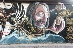 Milan was a city of canals: a few still survive. The Navigli district is one of the things to visit in Milan. MilanoArte takes you to visit the canals of Milan Mural Wall Art, Mural Painting, Graffiti Art, Amazing Street Art, Beautiful Streets, Art Forms, Art Images, Cool Art, Canvas