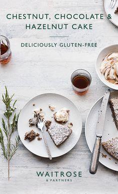 Yoghurt cake with Companion - HQ Recipes Healthy Cake Recipes, Sweet Recipes, Baking Recipes, Chocolate Hazelnut Cake, Chocolate Recipes, Christmas Desserts, Christmas Baking, Waitrose Food, Chestnut Recipes
