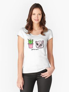Cute evil cat threatens its latest victim – a house plant! Humorous quote. Funny gift for cat people AND plant people! Bad kitty. Cat mom. Plant mom. • Millions of unique designs by independent artists. Find your thing. T Shirt Designs, Isle Of Man, Harley Davidson, Netflix, Biker, Vintage T-shirts, Forever, Halloween, Tshirt Colors