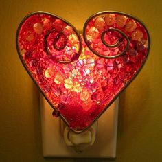 Melted beads - cute night light!