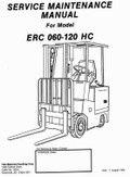 Yale Forklift Truck Type A814: ERC 030 AG/BG, ERC 040 AG