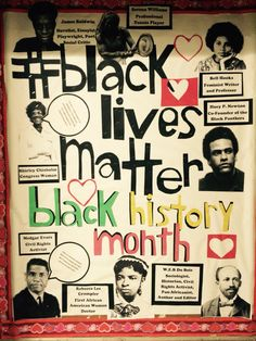 Bulletin board for Black History Month