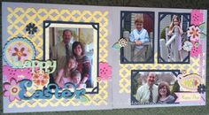 """CTMH's new Artbooking Cricut Collection is fabulous! I made this whole layout using one key set at 11"""" and everything cut proportionately! The cartridge has oodles of titles, borders, overlays, and photo mats! #Artbooking #Cricut #CTMH"""