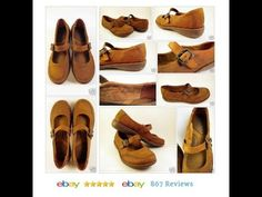 BORN Womens Sz 9 40.5 Suede Mary Jane Shoes Low Buckle Golden Brown #Børn #Flat #Oxford…