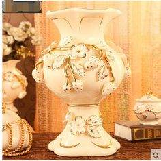Cheap vase ceramic, Buy Quality decorative vase directly from China european vase Suppliers: Luxurious European vase ceramic adornment to decorate the vase of large floor flower vase of antique TV ark of the living room