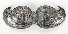 Ottoman Silver Belt Buckle with Double-Headed Eagle. Ethnic Jewelry, Antique Jewelry, Jewellery, Eagle Emblems, Double Headed Eagle, Ottoman Empire, Condition Report, Central Asia, Middle East