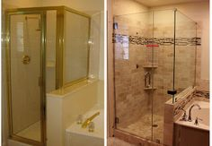 Super Master Shower Remodel Before And After 21 Ideas Bathroom Tub Shower, Master Shower, Shower Doors, Master Bathroom, Frameless Shower, Condo Bathroom, Bathroom Small, Bathroom Renos, Small Shower Remodel