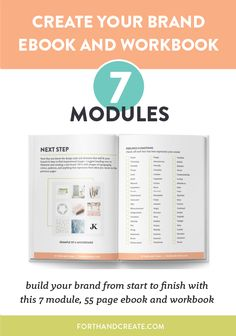 Build your brand from start to finish with the Create Your Brand ebook and Workbook. 7 modules of actionable steps and lessons to help you.