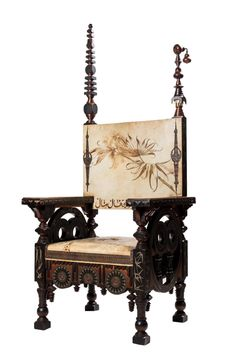 Buy online, view images and see past prices for Carlo Bugatti (Milano - Throne. Invaluable is the world's largest marketplace for art, antiques, and collectibles. Louis Comfort Tiffany, Bugatti, Art Nouveau, Vase Design, B 13, Furniture Styles, Furniture Design, Outdoor Parties, Old Master