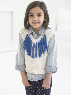 Knitting baby vest lion brand Ideas for 2019 Knit Vest Pattern, Crochet Headband Pattern, Mittens Pattern, Top Pattern, Knitting For Kids, Baby Knitting Patterns, Baby Patterns, Free Knitting, Knitting Ideas