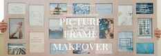 Remodel your old frames into this new wall decor art! Very cheap and simple! DIY home decor