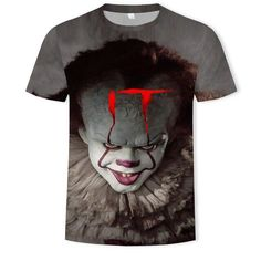 Summer Short T-Shirt Clothes - Men Gifts Teen Cult of Chucky Doll Horror Tops 3d Fashion, Mens Fashion, Blouse Dress, Gifts For Teens, Casual T Shirts, Shirt Outfit, Cosplay Costumes, Short Sleeves, Sweatshirts