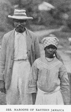 Maroons of Eastern Jamaica. This picture dates back to 1910. A Early depiction of the maroon people which i am a proud descendant of.