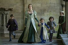 Lady Morganna Pendragon with her brother Artor (left), Aurora and Charlemagne, son of Jacquetta and John.