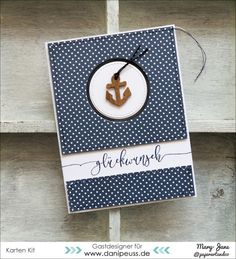 card nautical anchor sailing sailor   - Karte von Gastdesignerin Mary-Jane mit dem Juli Kartenkit von danipeuss.de