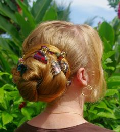 Braids & Hairstyles for Super Long Hair: Side Ballerina Bun~ my look for today