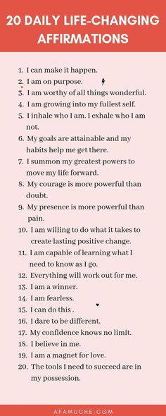 Positive affirmations for personal growth