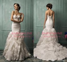 Plunging Neckline 2016 Lace Wedding Dresses Cheap Court Train Mermaid Wedding Gowns Applique Long Sleeve Bridal Gowns Backless Berta Bridal Wedding Dress Pictures Wedding Dress Shopping From Modrengrildress, $154.78  Dhgate.Com
