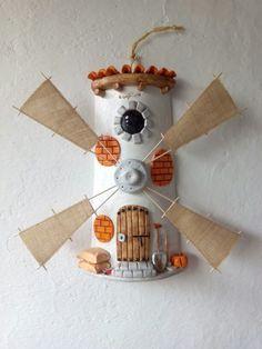 MANUALIDADES Y ARTESANIAS ELIZABETH Tile Art, Mosaic Tiles, Masonry Bbq, Decoupage Jars, Mediterranean Tile, Diy And Crafts, Crafts For Kids, Diy Y Manualidades, Roof Tiles