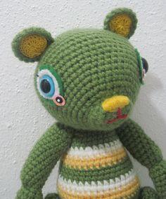 Bear Avocado Artist bear Amigurumi crochet by DreamsInAmigurumi, $30.00