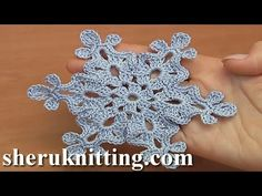 How to Make a Crochet Snowflake Tutorial Doily Snowflake Ornament was made of cotton, 169 meters in 50 grams. mm or 2 mm. In todays tutorial I will be making this double sided snowflake. Crochet Tree, Crochet Daisy, Crochet Motif, Double Crochet, Crochet Flowers, Crochet Stitches, Free Crochet Snowflake Patterns, Christmas Crochet Patterns, Holiday Crochet