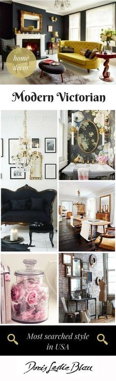 Modern Victorian Home Interior Decor: victorian living room, victorian bathroom..