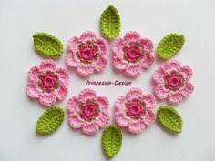 Häkelblumen von Prinzessin-Design auf DaWanda.com