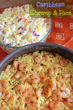 eMeals Recipe of the Week: Caribbean Shrimp & Rice with Pineapple Slaw - Around $3 -$3.50 per serving, 8 points on WW. #Diy #frugal