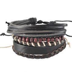 Braided Adjustable Leather popular Bracelet Cuff Women Men`s Casual – shawalt