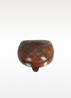 Bifold L Shape Reddish Brown Genuine Leather Wallet Embossed Mexico Sombrero