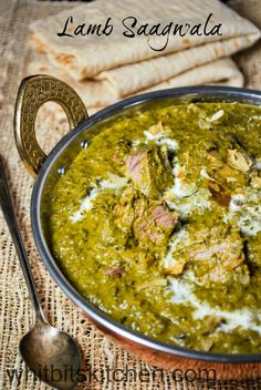 Lamb Saagwala - A delicious, mildly spiced dish of lamb and spinach curry. Serve with naan and rice for an epic meal.