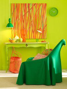 bold-green-orange-color-decor