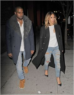 Kimye looking so chic in Brookyn