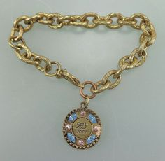 Ed Levin 14k Gold and Sterling Bracelet Love Knot jewelry