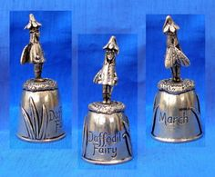 PEWTER SILVER SCENES THIMBLE.....DAFFODIL FAIRY /  Oct 01, 2014/ GBP 8.50