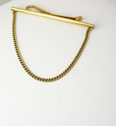 Krementz Swag Cuban Chain Tie Bar Clip by NeatstuffAntiques, $55.00