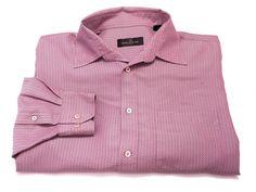 Bugatchi Uomo L Men's Long Sleeve Button Front Pink Turquoise Check Large #BugatchiUomo #ButtonFront