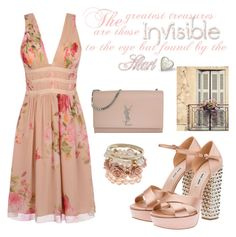 """""""Little things"""" by maryanacoolstyles ❤ liked on Polyvore featuring Blugirl, Miu Miu, Yves Saint Laurent and Shabby Chic"""