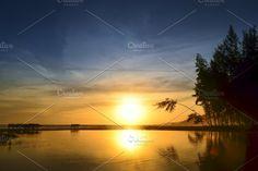 Paradise beach at sunset