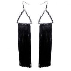 'Tomoe' fringed earrings