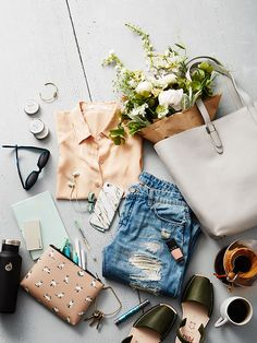 Flowers always add a finishing touch to any flat lay!