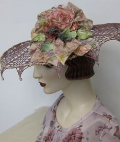 Shabby Chic Doily Hat by OrsiniMedici on Etsy, $138.00