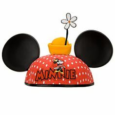 Disney Personalized Polka Dot Minnie Mouse Ear Hat with Flower for Women | Disney StorePersonalized Polka Dot Minnie Mouse Ear Hat with Flower for Women - This adorable classic Personalized Polka Dot Minnie Mouse Ear Hat with Flower looks extra captivating thanks to Minnie's famous polka dots and a flower which has its own little yellow hat, just like Minnie!