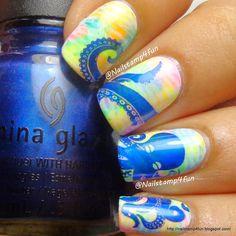 Nail Stamp 4 Fun: Octopus Nails