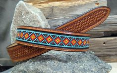 High Desert Indian Blanket Belt by Kathleen Rogers and Ty Rogers Western Belt Buckles, Western Belts, Beaded Belts, Beaded Jewelry, Indian Blankets, Bead Loom Patterns, Cowgirl Style, Loom Beading, Native American Jewelry