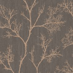 Graham & Brown Brown & Gold Icy Trees Wallpaper | Departments | DIY at B&Q