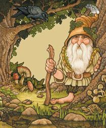 Acorn Gnome - artwork by Linda Matusich