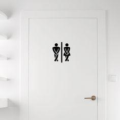 Pick and Stick - Sticker, H15xL15cm [Toilettes homme/femme] | ACHICA